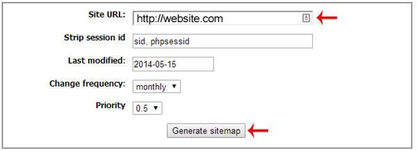 how to create sitemap for static html websites